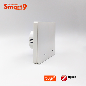 Image 2 - Tuya zigbee 허브와 함께 작동하는 smart9 zigbee 벽 스위치, smart life app 컨트롤이있는 버튼 디자인, tuya에 의해 구동