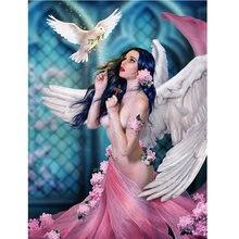 Новейшая Алмазная картина вышивка крестиком ангел девочка 3d