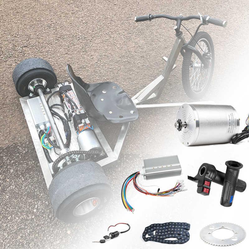 Skuter Listrik Kit Sepeda Listrik Konversi Kit 3000 W 48V 72V Motor Listrik untuk Skateboard Ebike Motor controller 50A Go Kart