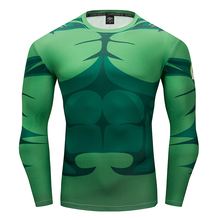 Hulk Winter Soldiers Spiderman Captain America T-Shirt 3D Printed compression Men Avengers Fitness Sweatshirt Tights Long sleeve