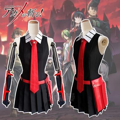 Hight Quality Anime Akame Ga Kill! Zero Akame Men Cosplay Costume Coat + Shirt + Tie