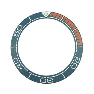 Image 4 - Nowy 41.5mm matowy czarny/niebieski i 1/4 pomarańczowy ceramika o wysokiej jakości wkładka Bezel dla Sea master Watch zegarki wymienić akcesoria
