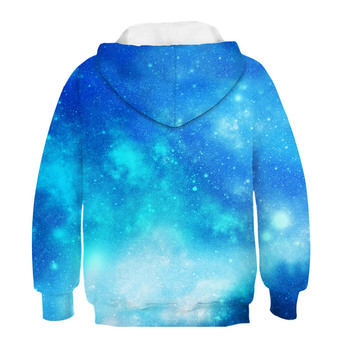 2020 Trendy Fashion Starry Boy Unicorn Girl Sweatshirt Hoodie Spring Cartoon Snowman Starry Hooded Jacket Children Pullover Top 2