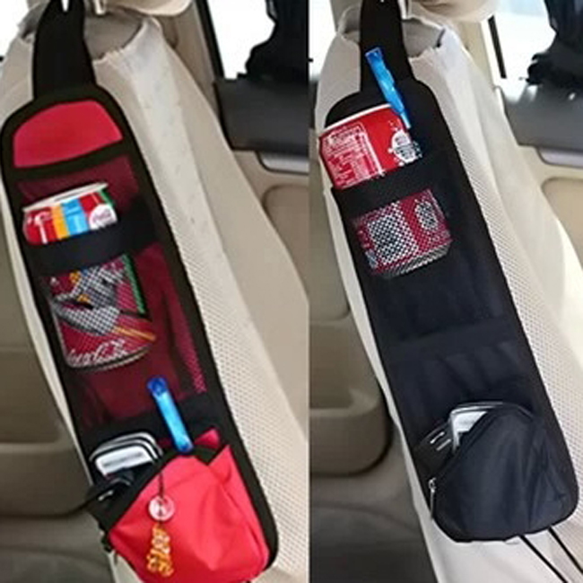 Car Seat Mesh For Phone Magazine Drinks Container Auto Styling Traveling Gear <font><b>Organiser</b></font> Storage Bags Accessories image