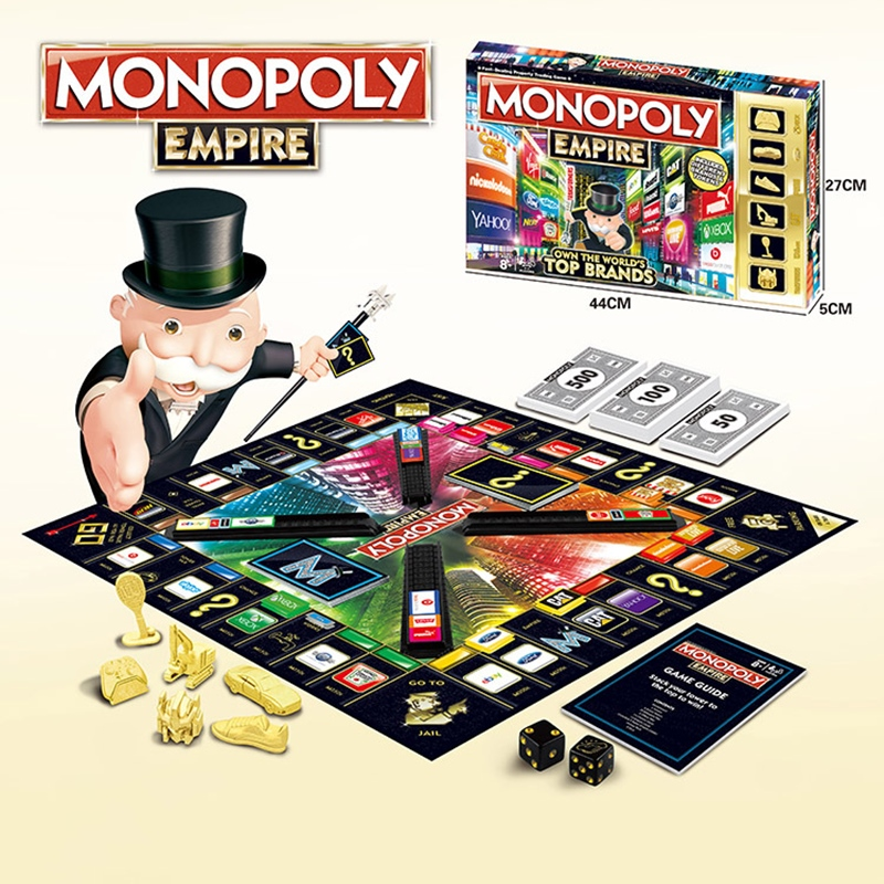 2020 New Classic Monopoly Puzzle Card Board Game Casual Battle English Russian Double Version Kids Toy Gift