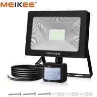 50W SMD2835 Motion Sensor LED Flutlicht AC220V Wasserdichte PIR LED Strahler Reflektor Projektor Lampe Außen Scheinwerfer-in Scheinwerfer aus Licht & Beleuchtung bei