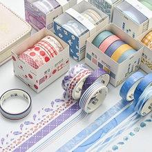 5 unidades/pacote cor fresca washi conjunto de fita padrão geométrico decorativo washi máscara fita para scrapbooking planejadores diário