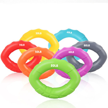 Silicone Portable Hand Grip Ring Finger Trainer Grip Strength Rehabilitation Training Forearm Wrist Finger Training Grip Ring high grade finger grip ball rehabilitation training equipment middle aged and young people partial stroke exercise finger grip