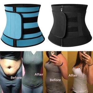 Image 3 - 高圧縮腰トレーナーおなかトリマージッパーネオプレンニッパーフィットネスコルセットボディシェイパー痩身腹部ベルト