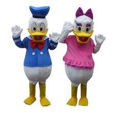 Горячая взрослый размер персонаж Дональд Дак костюм продажи Дональд и Дейзи талисман костюм