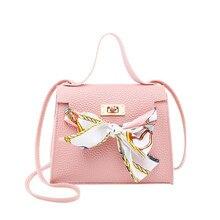 2019 Scarf Handbags Korean Version Of The Lock Single Shoulder Messenger Bag Women's Casual Wild Crossbody Bags Mobile Phone Bag недорого