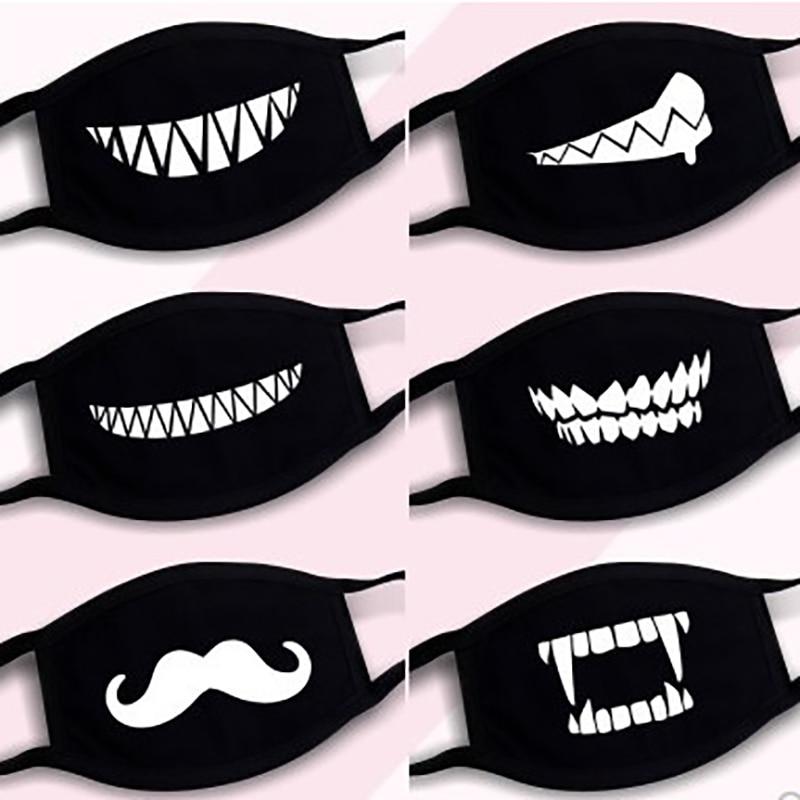 6PCS Trendy Creative Women Men Mask Unisex Funny Joker Anti-coronary Filtration Face Shield Disposable Breathable Cover