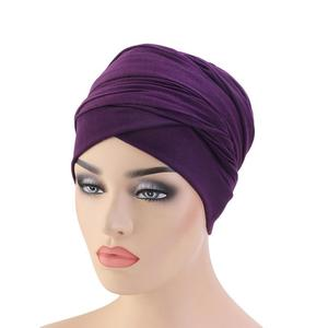 Image 5 - Mới Hồi Giáo Đuôi Dài Khăn Mũ Nữ Băng Đô Cài Tóc Turban Gọng Hóa Trị Bộ Đội Tóc Hồi Giáo Headwrap Đầu Bao Bọc Mũ Lưỡi Trai Mũ Dubai Ả Rập Bonnet