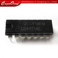 10 pçs/lote CD4011BE DIP14 CD4011 DIP DIP-14 4011BE novo e original IC Em Estoque