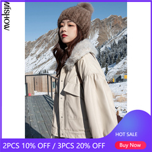 MISHOW 2020 Winter Parkas Für Frauen Pelz Kragen Mäntel Solide Tops Outdoor Mäntel Mode Kleidung Weibliche Outer MX20D8261