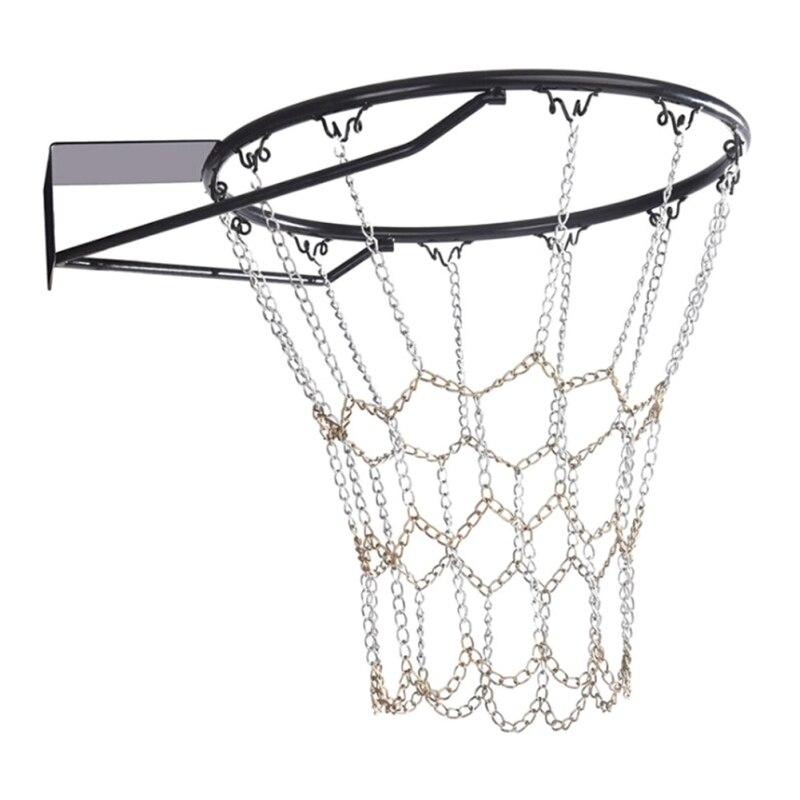 Durable Basketball Target Net Basketball Classic Sport Steel Chain Basketball Net Outdoor Galvanized Steel Chain Net