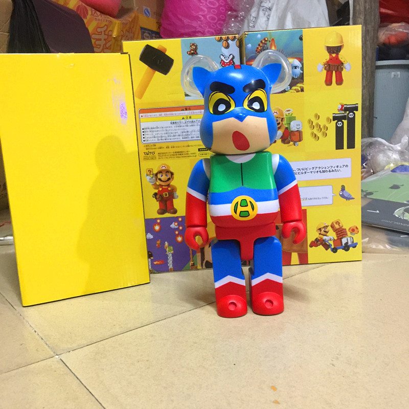 Bearbrick Toy Dynamic Superman Violence Bear Garage Kit Blocks Bear Crayon Model Ornaments
