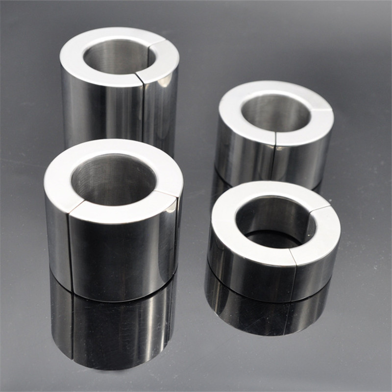 New Magnetic Stainless <font><b>Steel</b></font> Scrotum <font><b>Ring</b></font> Pendant Ball Stretchers Testis Ball Heavy <font><b>Penis</b></font> <font><b>Rings</b></font> Cockring Bondage Sex Toy for Man image
