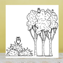 ZhuoAng Owl And Tree Clear Stamps/Silicone Transparent Seals for DIY scrapbooking photo album Clear Stamps zhuoang naughty cat clear stamps silicone transparent seals for diy scrapbooking photo album clear stamps