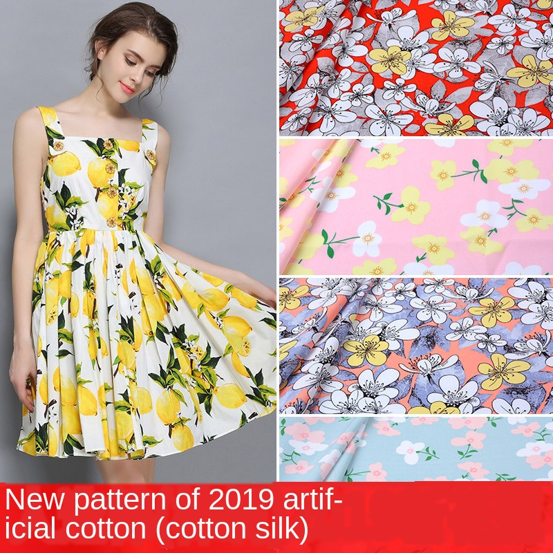 Printed Cotton Cloth Material DIY For Making Fabrics For Patchwork Needlework DIY Handmade Accessories Casual Plant Printed