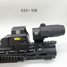 Nuova lente d'ingrandimento G33 3X 558 RED DOT SET softair con interruttore a lato vista di caccia QD rimovibile rapida