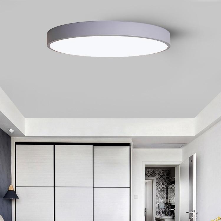 Северный Европейский стиль, круглый светодиодный потолочный светильник для спальни, ультратонкие, крутые, умные светильники для гостиной