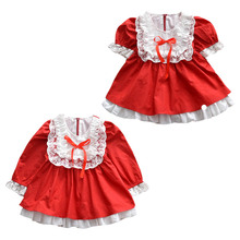 Princess Autumn Casual Baby Girls Long Sleeve Lace Patchwork Dress Kids Princess Pageant Dresses цены онлайн