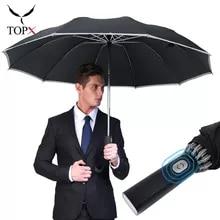 Automatic Umbrella Parasol Reverse Women Windproof Reflective-Strips Business Portable