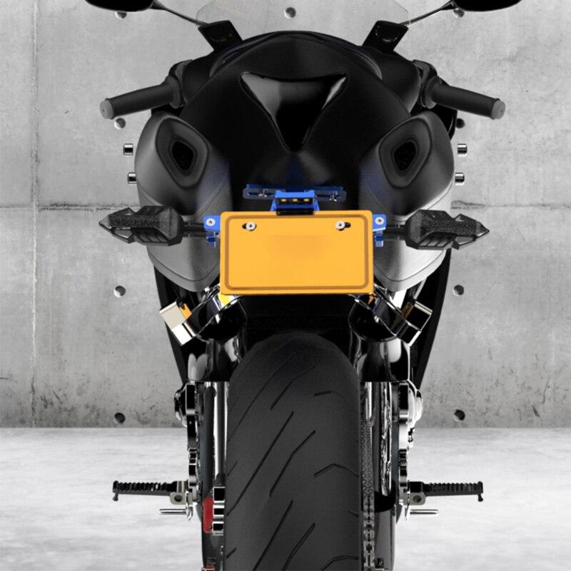 Мотоциклетный светодиодный держатель номерного знака для 125 Soporte Matricula Moto Fz1 Yamaha Tracer 900 поддержка налета Moto Honda Cb600