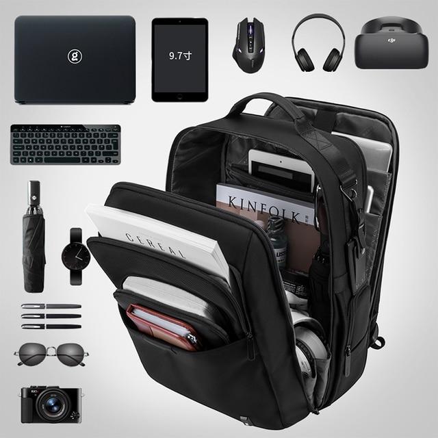 Bange Men Backpack Multifunctional Waterproof 15.6inch Laptop Multi-layer Pockets Bag Casual School Backpack for Unisex 1
