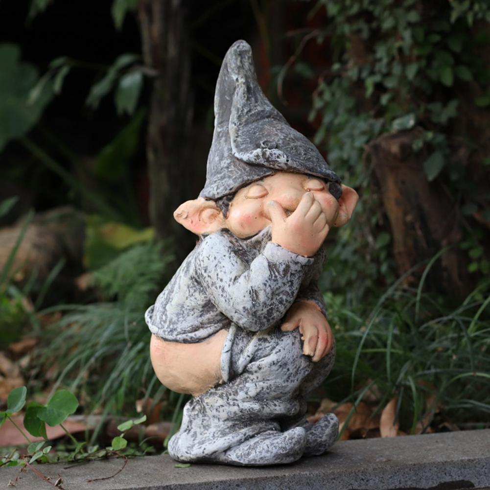 Реалистичная практичная полимерная поделка, демонстрационная форма, имитация забавного гнома, миниатюрная карликовая статуэтка, садовый д...