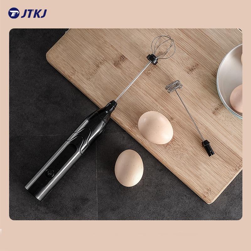 JTKJ 2-in-1 Mini Electric Multi-Function Mixer Coffee Blender Whisk Hand held Simplicity Kitchenware Licuadora