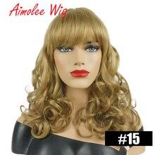 Длинные волнистые человеческие волосы смесь натуральный синтетический парик черный блонд с челкой для женщин Имитация верхние парики повседневная работа вечерние волосы