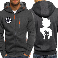 Dragon Ball Z Anime Hoodies Men Autumn Winter Fleece Jacket Male 2019 Casual Sportswear Zip Harajuku Hooded Sweatshirt Coat
