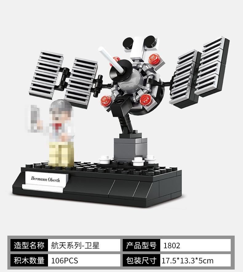 Новые идеи космическая станция спутниковая ракета пилот строительные блоки модель наборы кирпичи классический Звездные войны Marvel фильм для детей игрушки