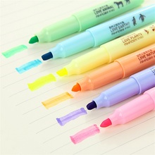 Marker-Pen Stationery Highlighter-Pen Notebook Pen-Color 6 And Fresh Creative