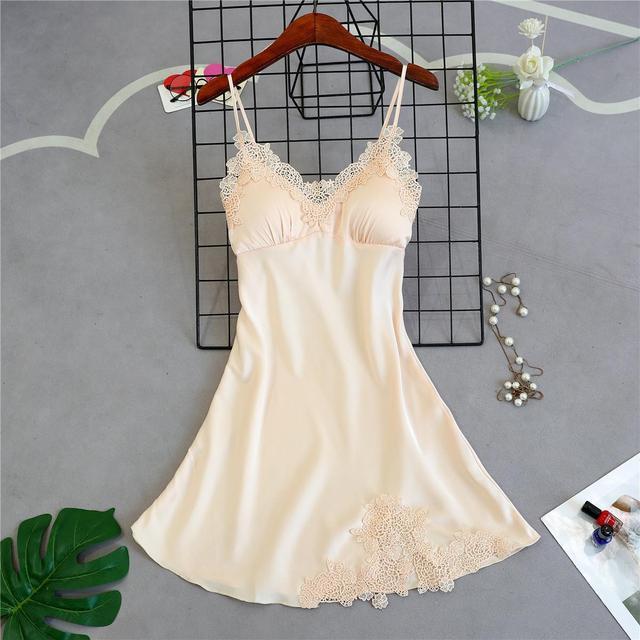 Brand New Chinese Women Robe Satin Nightgown Sexy Nightshirt Sleepwear Lace Bath Gown Summer Casual Home Night Dress Nighty