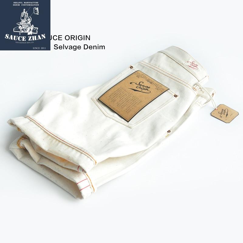 SAUCE ORIGIN  White Jeans Color Point Jeans Shorts Jeans Man Raw Denim Jeans Selvedge Denim Jeans Mens Jeans Brand  Jeans Men