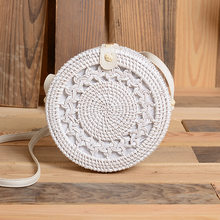 2020 Handmade Rattan Woven Round Women Crossbody Bag Vintage Retro Straw Square Box Messenger Bag Lady Summer Beach Shoulder Bag(China)
