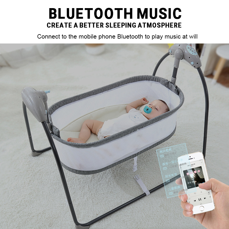 He936924425964722a8abe4e3a3e914e2T Baby Electric Rocking Chair Swing Comforter Smart Placate Device Artifact Electric Cradle Trottie Nursling Bed Crib