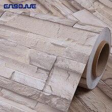 Водостойкая кирпичная виниловая 3D настенная наклейка Современная Гостиная ТВ фон самоклеющиеся ПВХ обои для кухни Декоративные наклейки s