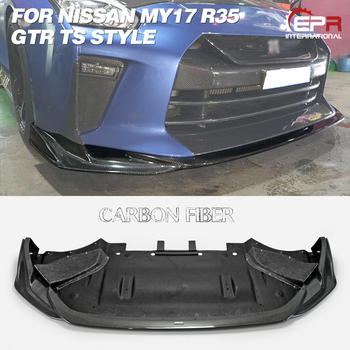 Carbon/Glass Fiber Front Lip For MY17 R35 GTR TS Style FRP Front Diffuser (Only use with TS Style Front Bumper) Body Kit Racing