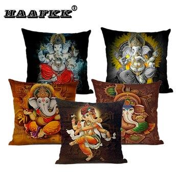 Elephant Pattern Cushion Cover Myth Elephant God Decorative Pillow 45x45c Living Room Sofa Art Accessory Pillow Flax цена 2017