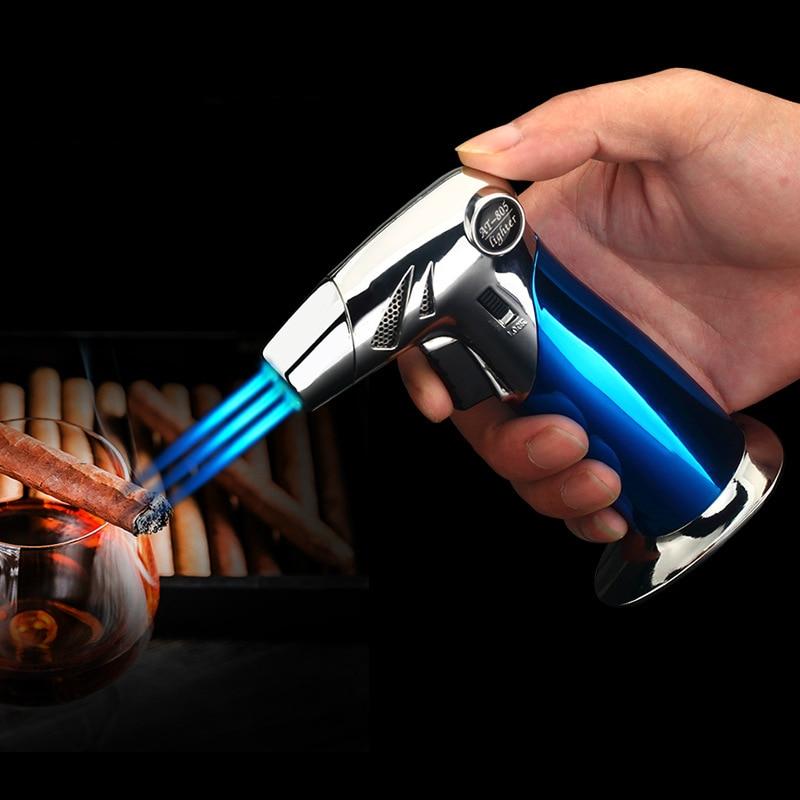 Прямо в синий fmale открытый Кухня барбекю spary пистолет Зажигалка