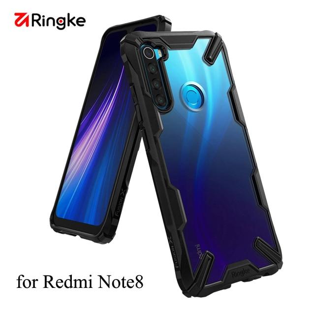 Ringke Fusion X Xiaomi Redmi için not 8 vaka şeffaf sert PC geri yumuşak TPU çerçeve Redmi not 8 kapak