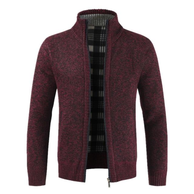 Men's Jacket Slim Fit Stand Collar Zipper Jacket  2
