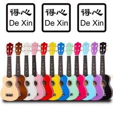 """De Xin красочный 2"""" Укулеле сопрано липа укулеле концертная 21 дюймов Акустическая гитара Сопрано укулеле"""