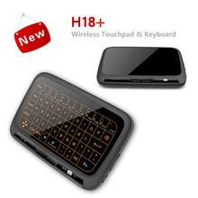 Touch-Pad Keyboard Androidtv-Box Remote-Control Mini for Smart-Tv PC H18 Backlit Large