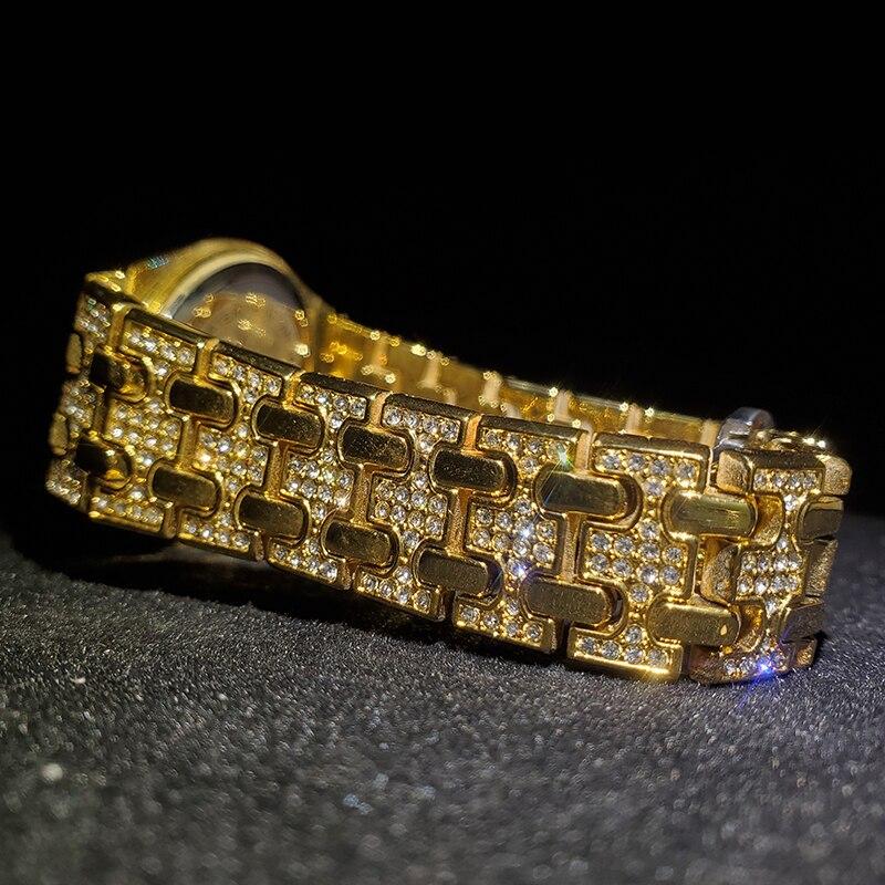 MISSFOX топ роскошные женские часы брендовые золотые с бриллиантами Женские часы Лидер продаж водонепроницаемые женские часы с подарочной кор...