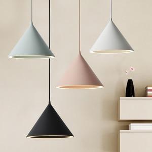 Modern Led Pendant Light Fixture With Aluminum Lampshade For Diningroom Cafe Bar Restaurant Nordic Cone Hanging Lamp Lampadario(China)